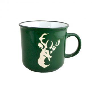 Green deer mug